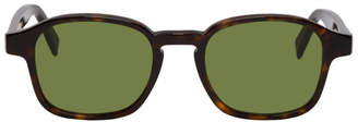 Super Tortoiseshell and Green Sol Sunglasses