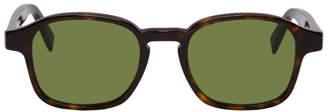 Super Tortoiseshell and Green Sol Sunglasses