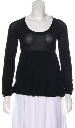 Miu Miu Long Sleeve Wool Sweater