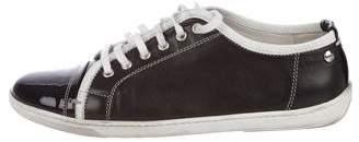 AGL Leather Cap-Toe Sneakers