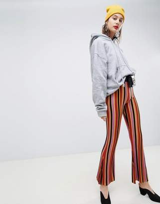 Asos DESIGN stripped knitted flares