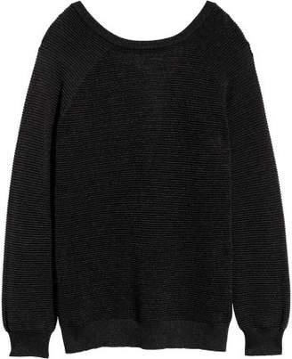 H&M Textured-knit Sweater - Black