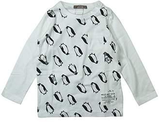 nico hrat (ニコ フラート) - 《H28年秋冬物》 nico hrat(ニコフラート) 製品洗い加工済み 42/2天竺ペンギン長袖Tシャツ 95cm /OW B-260267