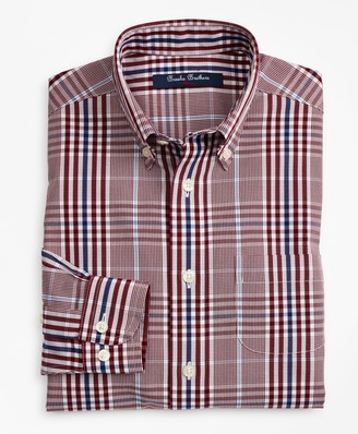 Brooks Brothers Boys Non-Iron Glen Plaid Sport Shirt