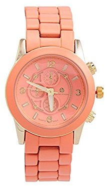 Adrienne Vittadini Ladies Watch ads9128g228 – 899コーラルダイヤルStainl。スチールQuartz Movement