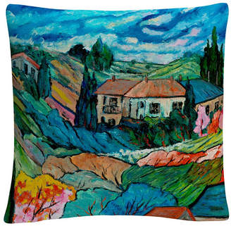 """Baldwin Valley House Tuscan Bold Abstract 16x16"""" Decorative Throw Pillow by Masters Fine Art"""