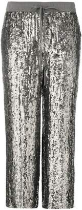 P.A.R.O.S.H. sequin wide trousers