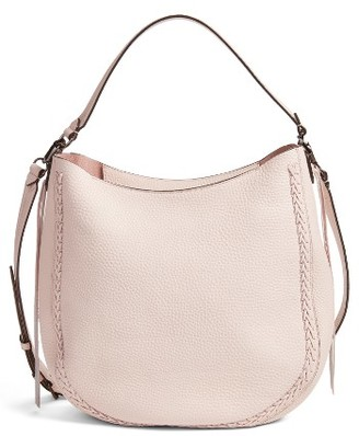 Rebecca Minkoff Unlined Convertible Whipstitch Hobo - Pink $325 thestylecure.com