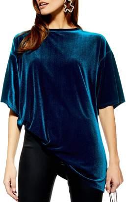 Topshop Velvet Tunic Shirt