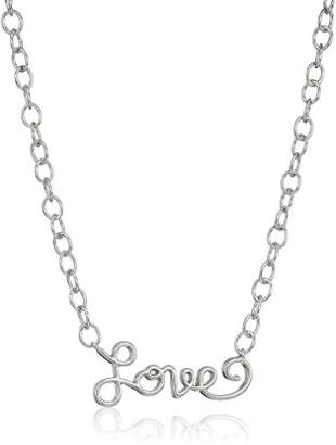 "Sterling Silver""Love"" Script Necklace"