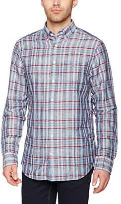 Gant Men's O2. Madras Plaid REG BD Casual Shirt, (Persian Blue), (Size:Medium)