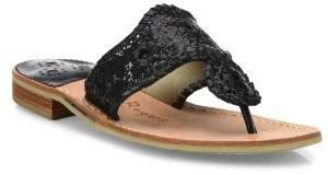 Jack Rogers Cleo Sparkle& Leather Slides