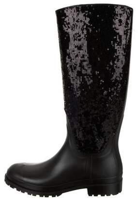a9e702ef5ff Saint Laurent Rain Gum Sequin Rain Boots