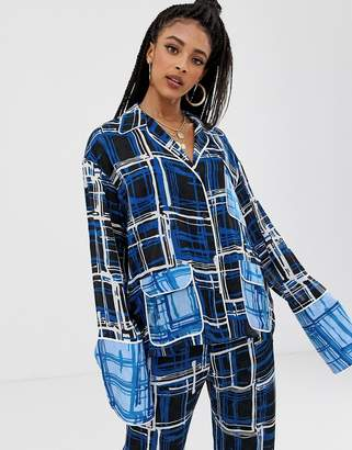 7bcce37a House of Holland checked panelled co-ord shirt