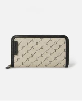 Stella McCartney Monogram Zip Around Wallet