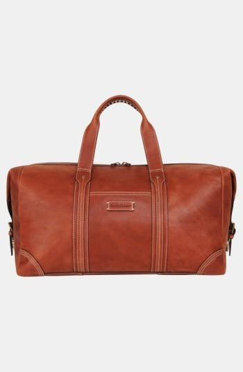 Tommy Bahama Men's Leather Duffel Bag - Brown