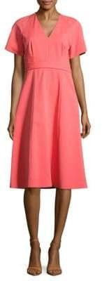 Lafayette 148 New York Kaylee Solid V-Neck Dress