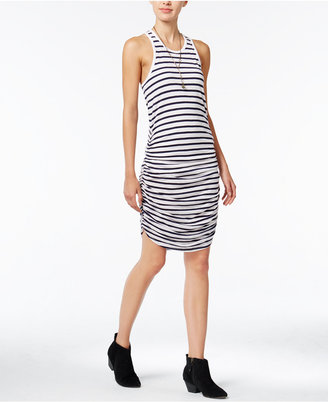 chelsea sky Striped Ruched Dress, Only at Macy's $78 thestylecure.com