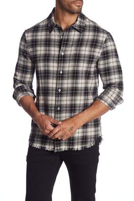 Frame Frayed Hem Flannel Regular Fit Shirt