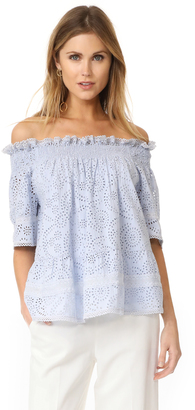 Needle & Thread Off the Shoulder Top $224 thestylecure.com