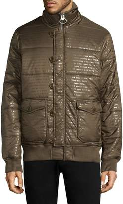 f522d41374a Mens Stand Collar Quilted Jacket - ShopStyle