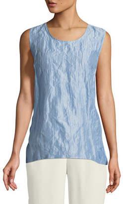 Caroline Rose Sorbet Crinkle Silk Tank