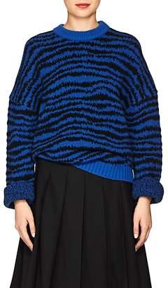 Marc Jacobs Women's Zebra-Striped Wool-Blend Sweater