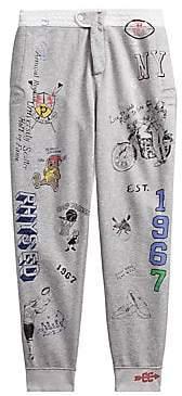 Polo Ralph Lauren Men's Vintage Fleece Printed Sweat Pants