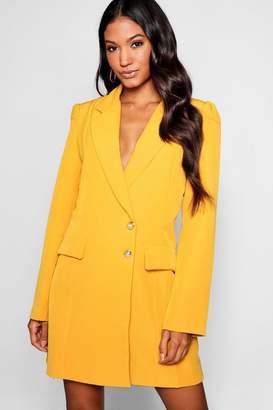 boohoo Volume Sleeve Blazer Dress