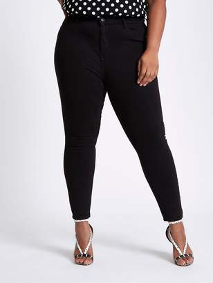 RI Plus Ri Plus Harper High Rise Regular Leg Jeggings- Black