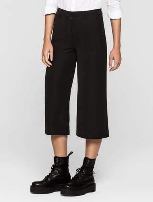 Calvin Klein satin twill culottes