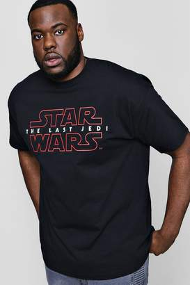 boohoo Big And Tall Star Wars Last Jedi License T-Shirt