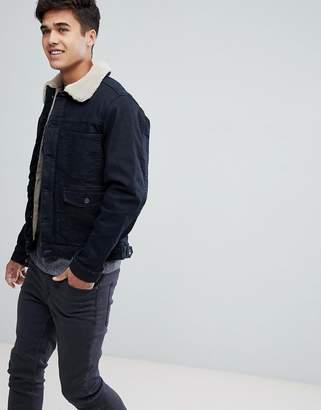 Esprit Denim Jacket With Fleece Lining