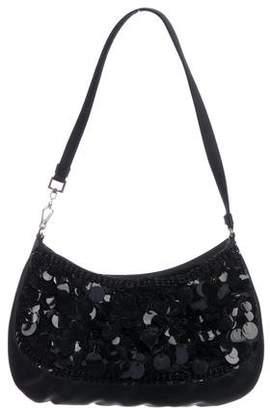 b7752a190669 Prada Embellished Satin Shoulder Bag