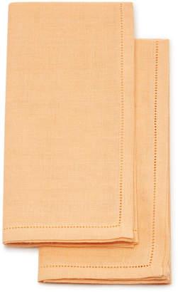 Tessilarte Set-Of-Two Embroidered Linen Napkins