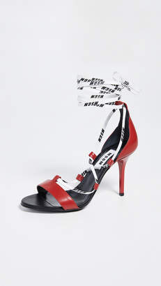 MSGM String High Heel Sandals