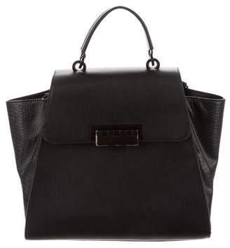 Zac Posen Eartha Leather Top Handle Bag