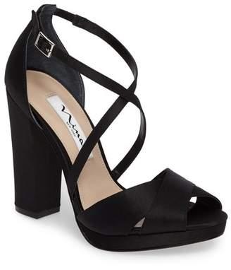 e92417b6bd0e Nina Black Heel Strap Women s Sandals - ShopStyle