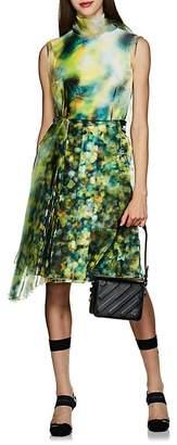 Prada Women's Layered Liquid-Crystal-Print Midi-Dress
