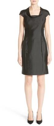 Women's Armani Collezioni Cap Sleeve Sheath Dress $1,295 thestylecure.com