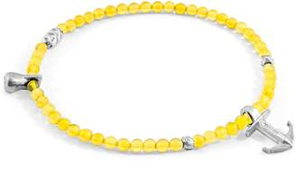 ANCHOR & CREW - Yellow Amber Tropic Silver & Stone Bracelet