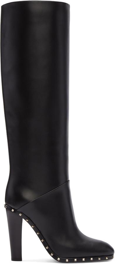 Valentino Black Soul Rockstud Boots