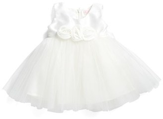 Infant Girl's Popatu Rosette Fit & Flare Dress $42 thestylecure.com