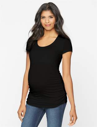 Isabella Oliver Pea Collection Scoop Neck Maternity Tee- Solid