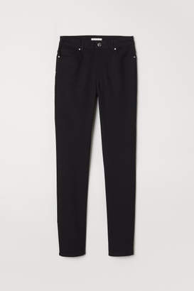 H&M Pants Skinny fit - Black