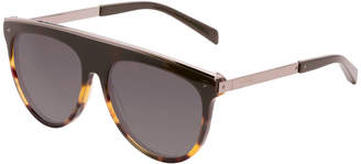 Balmain Flat-Top Aviator Sunglasses, Brown