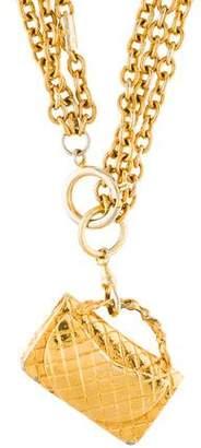 Chanel Classic Handbag Pendant Necklace