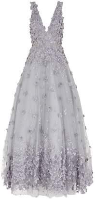 Jovani 3D Flower Applique Gown
