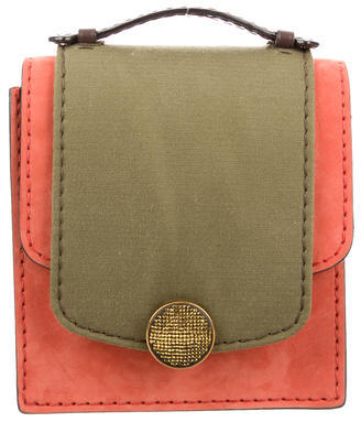 Marc Jacobs Marc Jacobs Leather & Canvas-Accented Suede Satchel