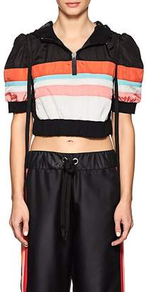 NO KA 'OI No Ka'Oi Women's Kuke Striped Puff-Sleeve Crop Pullover